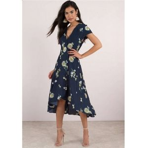 Free people Lost in you midi dress in blue NWT